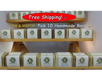 Pick 10 Handmade Goat Milk Soaps, Choose All Your Favorites And Get FREE shipping - Handmade, All Natural,Goat Milk Soaps!