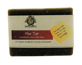 Pine Tar Goat Milk Soap, Tar Soap, Pine Tar, Black Tar Soap, Goat milk Tar Soap, Pine Goat Milk Soap, Eczema Soap, Soap, Psoriasis Soap,