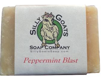 Peppermint Blast Goat milk Soap, Peppermint Goat Milk Soap, Peppermint Goat Soap, Peppermint Soap