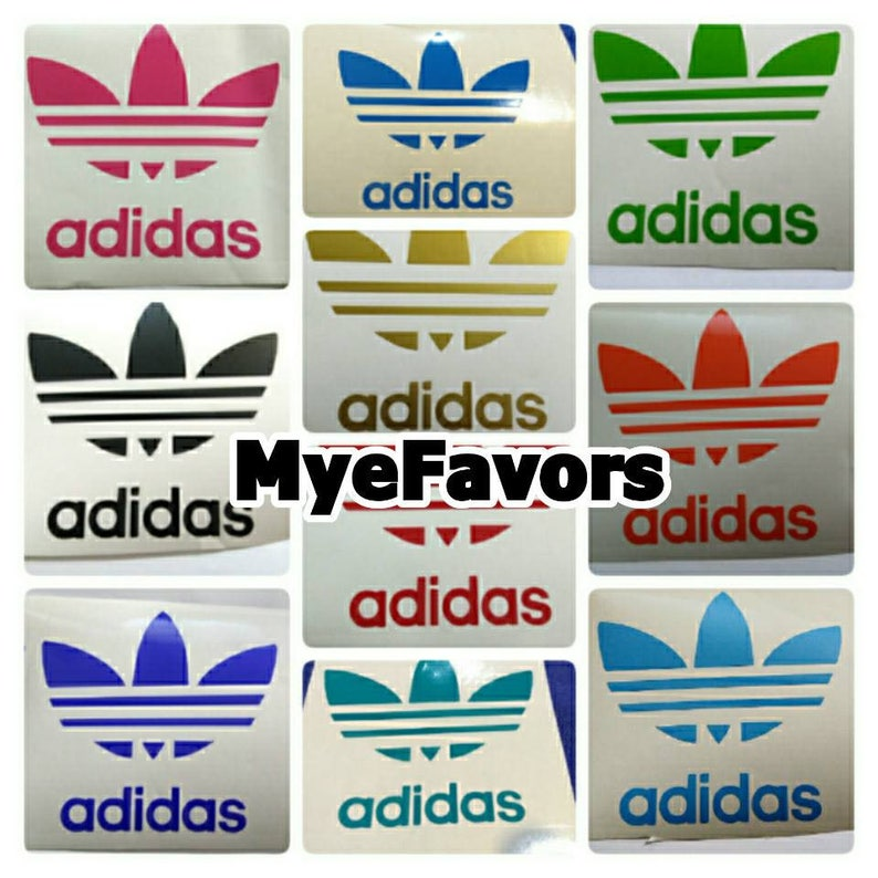 3 FREE - ADIDAS Theme Vinyl Decals Labels Stickers for Cups Plates Napkins  Balloons Gift Bags Party Favors Supplies Baby Shower Birthday &