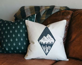 Throw Pillow - Throw Pillow Covers - Screen Printed Pillows - Pillow Case - Home Decor -  Decorative Pillows - Forest