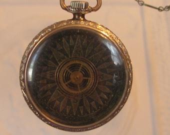 Gold Steampunk Pocket Watch Pendant