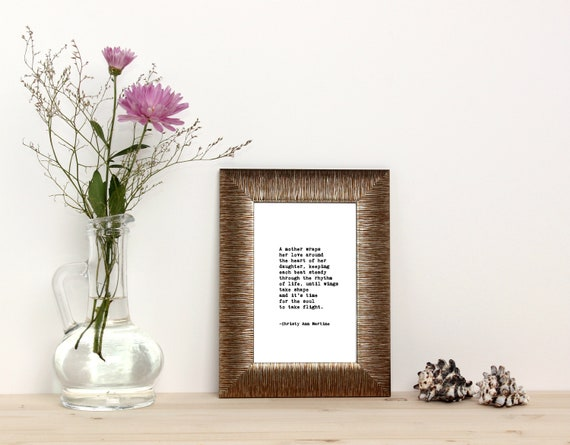 Birthday Gift for Mom from Son or Daughter - Mom Gifts - Poem Print -  Typewriter Font