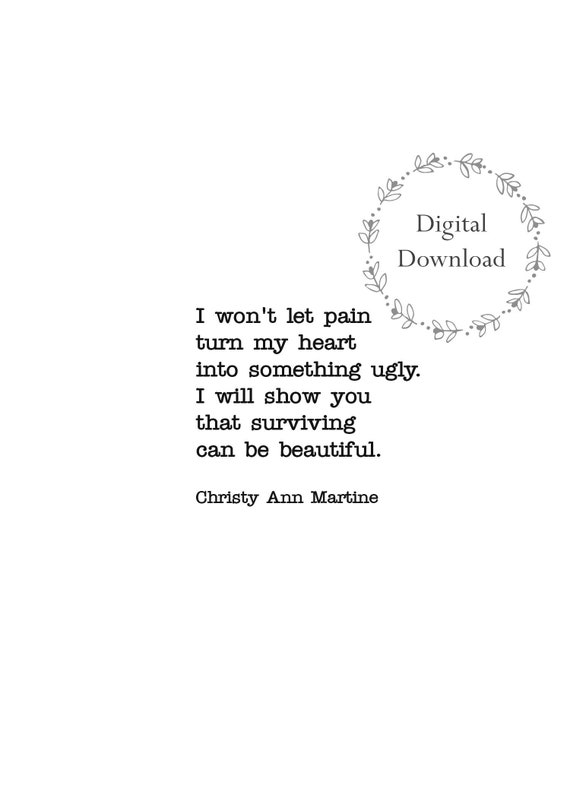 Mental Health Quotes Survivor Quote DIGITAL DOWNLOAD Surviving Can Be  Beautiful Printable Print