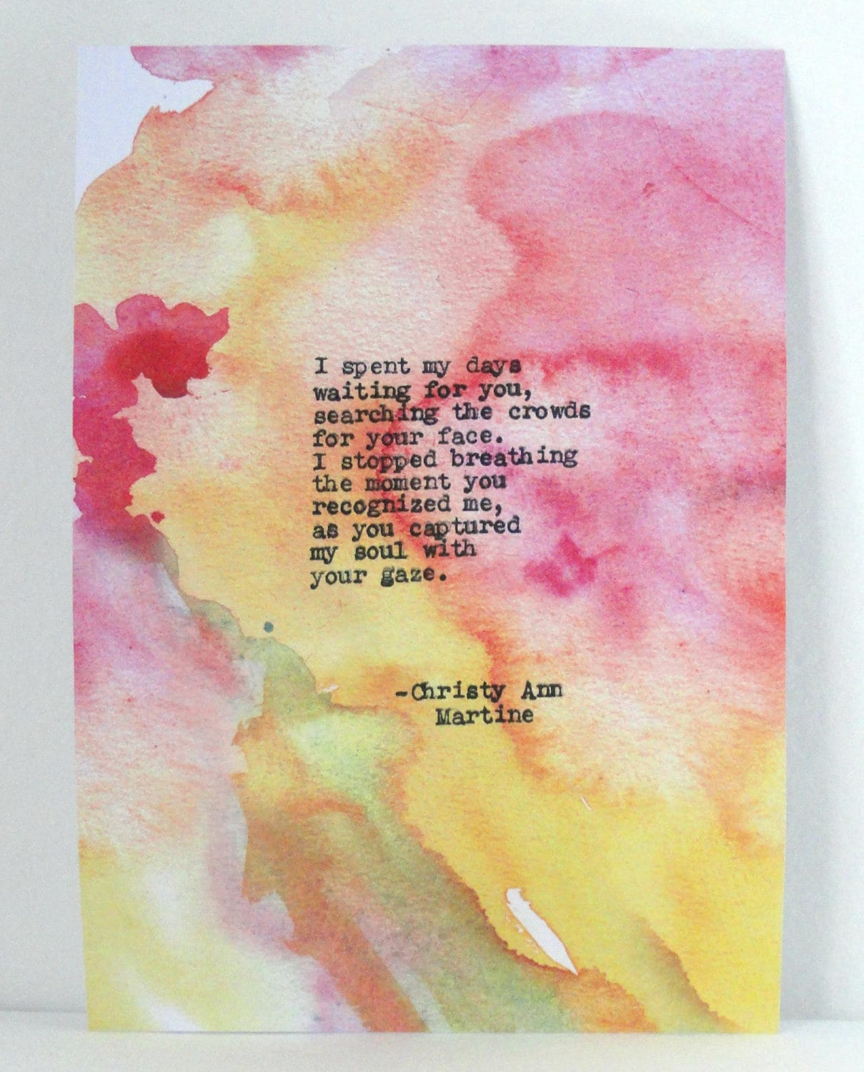 Ready to Ship - Premade - Poetry - Love Poem Gift for Him or Her ...