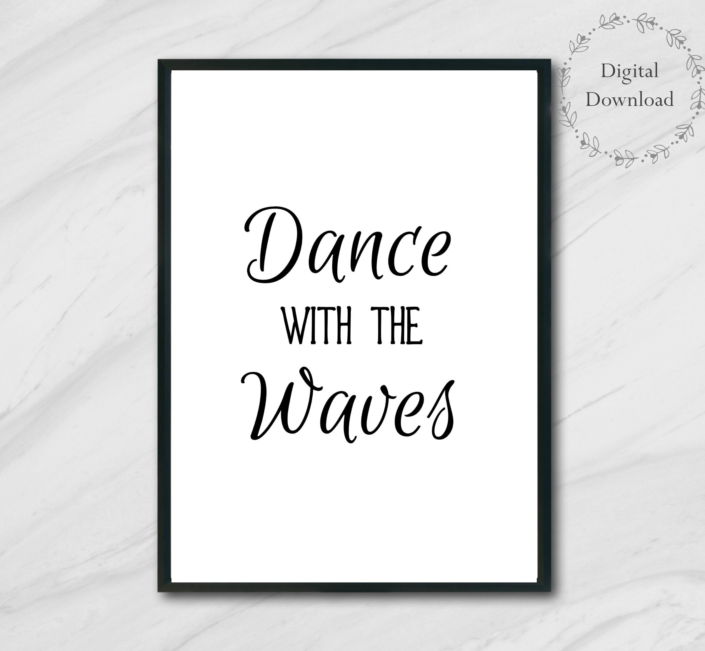 ocean decor printable quotes - beach decor wall art printables - 5