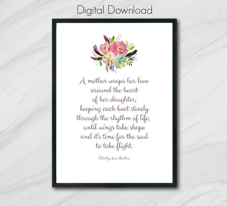 graphic about Printable Mothers Day Poems named Printable Moms Working day Present in opposition to Daughter or Son - Moms Working day Poster Down load 5x7 8x10 Printable Presents