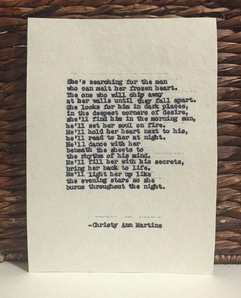 Love Poetry  Rhythm of His Mind Poem  Hand Typed by Author  image 0