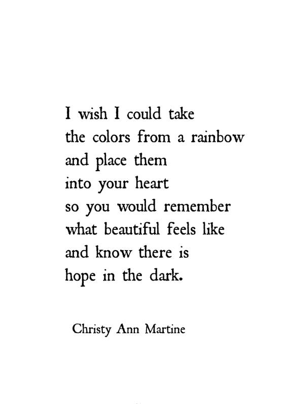 cheer up gift for friend depression hope rainbow poem