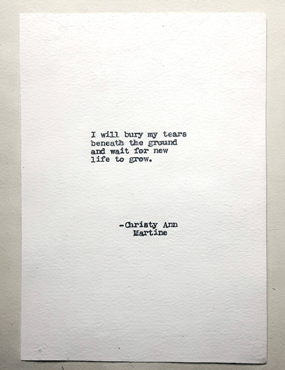 Starting Over Poem - Self Discovery - Healing - Growing - New Life - I will bury my tears beneath the ground and wait for new life to grow