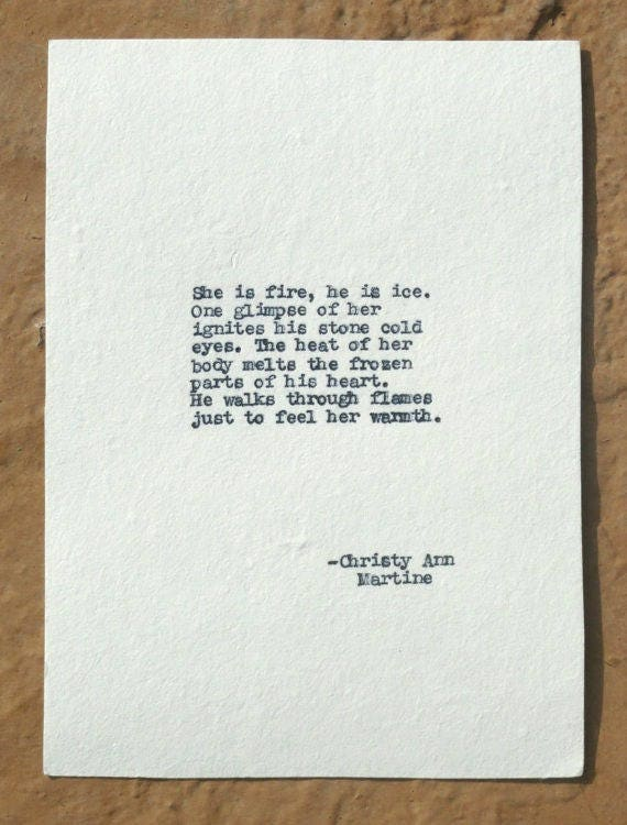 romantic gifts for him or her typewriter poetry love poems she
