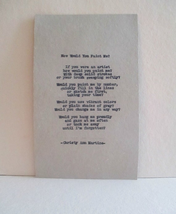 Literary Wall Art - How Would You Paint Me? Poem - Literary Decor - Poetry