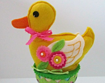 Felt Easter Duck Candy Jar