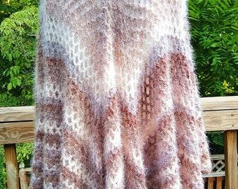 Crochet Pattern -- Wrap -- Shawl -- Cape -- Toasted Marshmallow Blanket Wrap