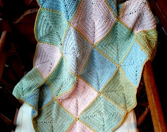 Crochet Pattern Blanket -- Cornerstone Square Blanket -- Any Size -- Digital Pattern PDF Only (Crochet)