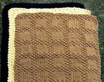 Knitting Pattern Washcloths -- Dishcloths-- Such Squares Dishcloth Pattern (Knit)
