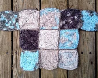 Crochet Pattern Sweater -- Cornerstone Square Pullover -- Any Size -- Digital Pattern PDF Only (Crochet)