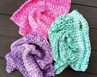 Knitting Pattern Washcloth -- Ribby-Do Washcloth Pattern -- Washcloth/Dishcloth/Square to Knit