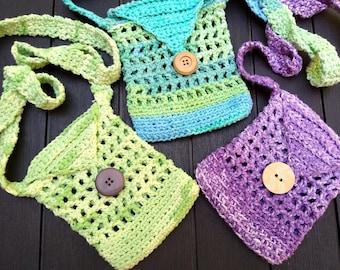 Crochet Pattern Bag -- I Only Want a Little Bag -- Small Bag -- Crossbody Strap