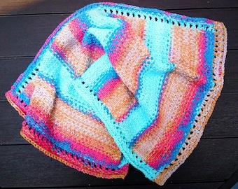 Knitting Pattern Towel -- Linen Stitch & Eyelet Tea Towel -- washcloth -- dishcloth -- placemat -- PATTERN PDF
