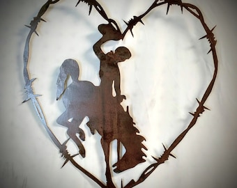 Horse Stencil Heart Love Horseshoe Barb Wire Country Cowboy Cabin Ranch Signs