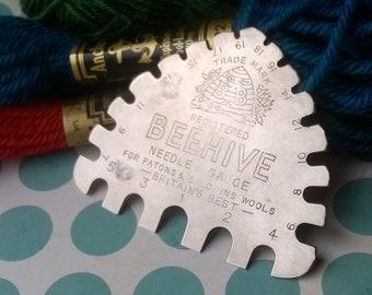 Knitting Needle Sizes Chart Uk : Needle gauge etsy