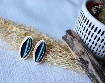 chic ethnic earrings, earrings, silver hammered metal jewelry, wax buckles