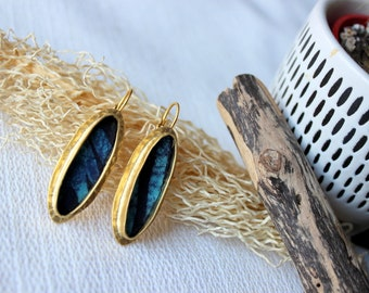 chic ethnic earrings, sleeper, gold plating jewelry, Nigerian Batik fabric earrings