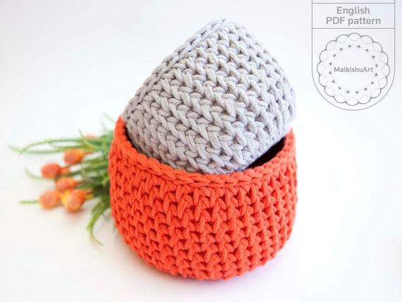 Crochet Basket Patterncrochet Pattern Crochet Home Dcor Etsy
