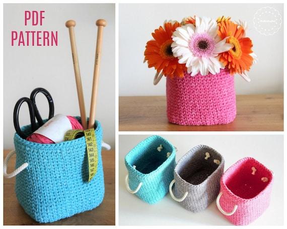 Crochet Rectangular Basket Pattern Crochet Pdf Pattern Etsy