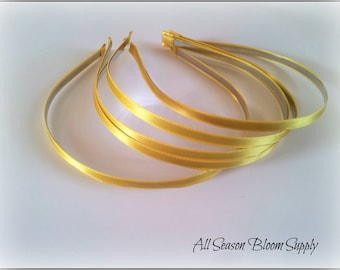 Metal, Yellow Ribbon Lined Headbands, Hairbands, 5 mm, Fashion Hair Band, Baby Headband, Hair accessories
