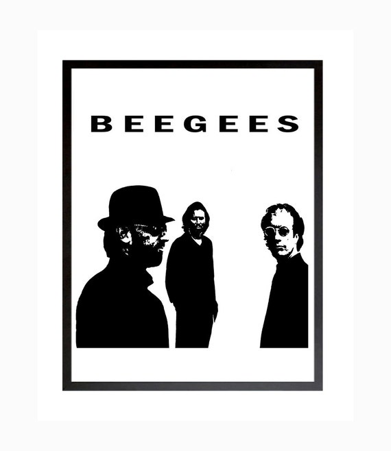 Bee Gees Poster, Bee Gees Disco Music, Still Waters, Printable Art,  Download, Digital Print, Bee Gees Art, Wall Decor, Saturday Night Fever