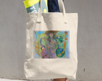 """Tori Roze and The Hot Mess """"Baggage Claim"""" Cotton Tote Bag"""