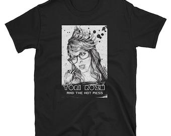 Tori Roze B&W Logo Short-Sleeve Unisex T-Shirt