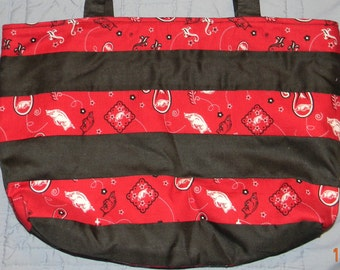 Arkansas Razorback & Black Short Tote