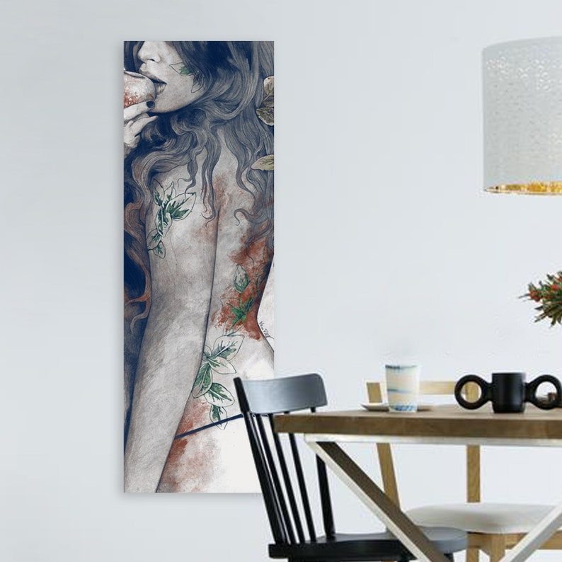 6fff8e7df Woman in thong Panoramic erotic poster Sexy female   Etsy