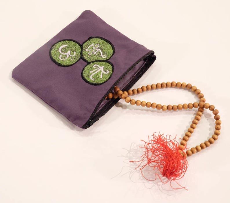 Om Design Yoga Coin Purse Change Purse Makeup Purse