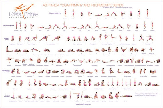 Ashtanga Yoga Poster Primary Series Intermediate