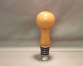 Cherry bottle stopper with stainless steel stand up tip