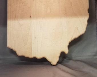 Hard maple state of ohio cutting board