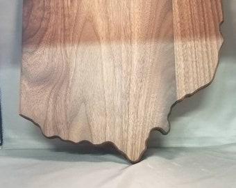 Walnut state of Ohio cutting board