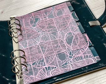 5 x Divider for turning ・ Laminated ・ A5 Filofax 2021