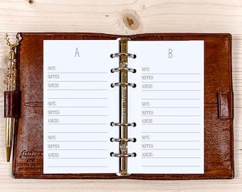 Address - Lists ・ Personal Filofax ・ 120g • 2022