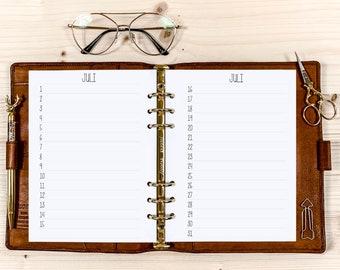 Birthday Calendar・ A5 Filofax・ 120g • 2022