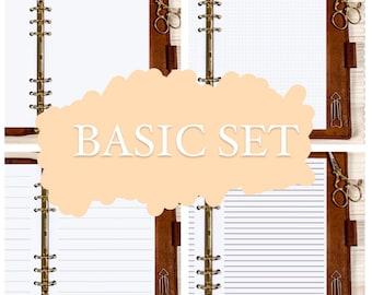 BASIC SET- A5 / Personal / Pocket Filofax - 120g •