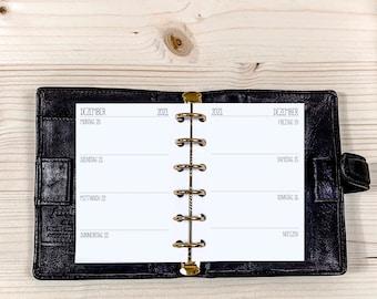 Calendar Inserts・1 W / 2 S ・ Pocket ・ 120g • 2022