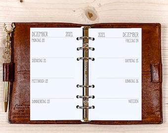 Calendar inserts・1 W / 2 S ・ Staff ・ 120g • German / English