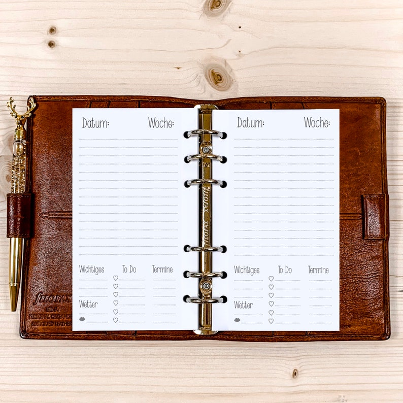 365 Days1 Day / 1 Page  Personal Filofax  120g  2022 image 0