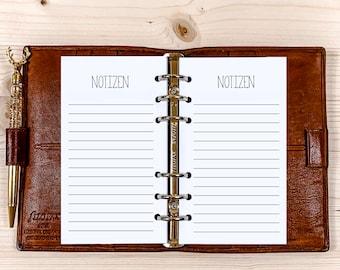 60 x Notes ・ Personal Filofax ・ 120g • 2022