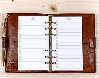 Birthday Calendar ・ Personal Filofax ・ 120g • 2022